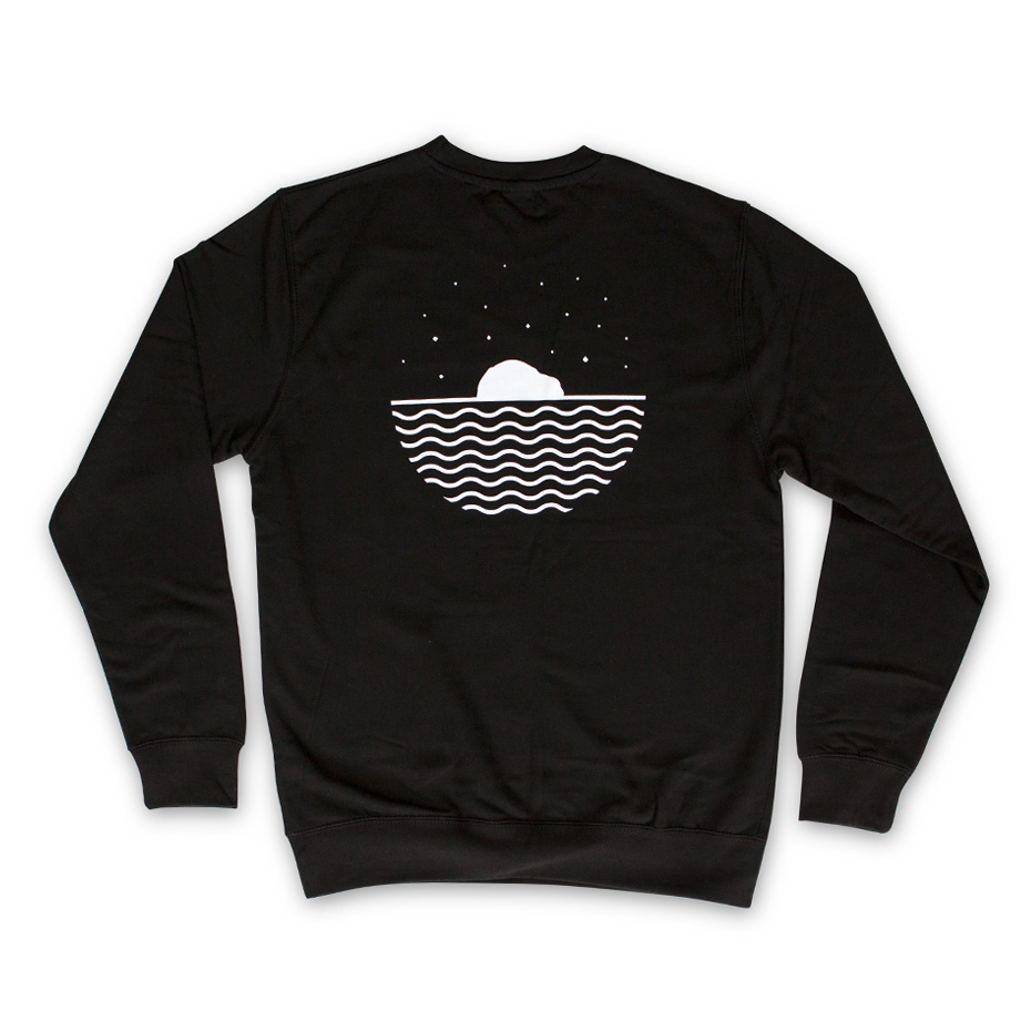 The black Kudhva sweater, back