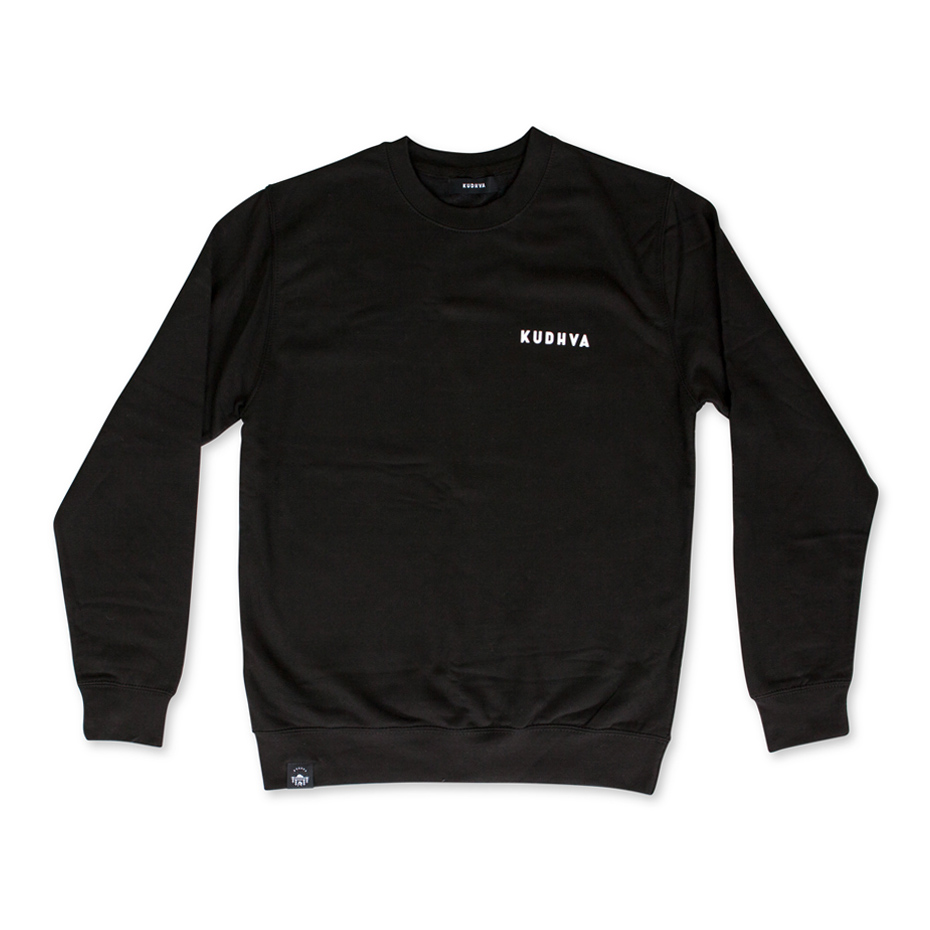 The black Kudhva sweater, front