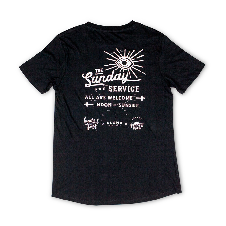 Sunday Service Tshirt, black, back