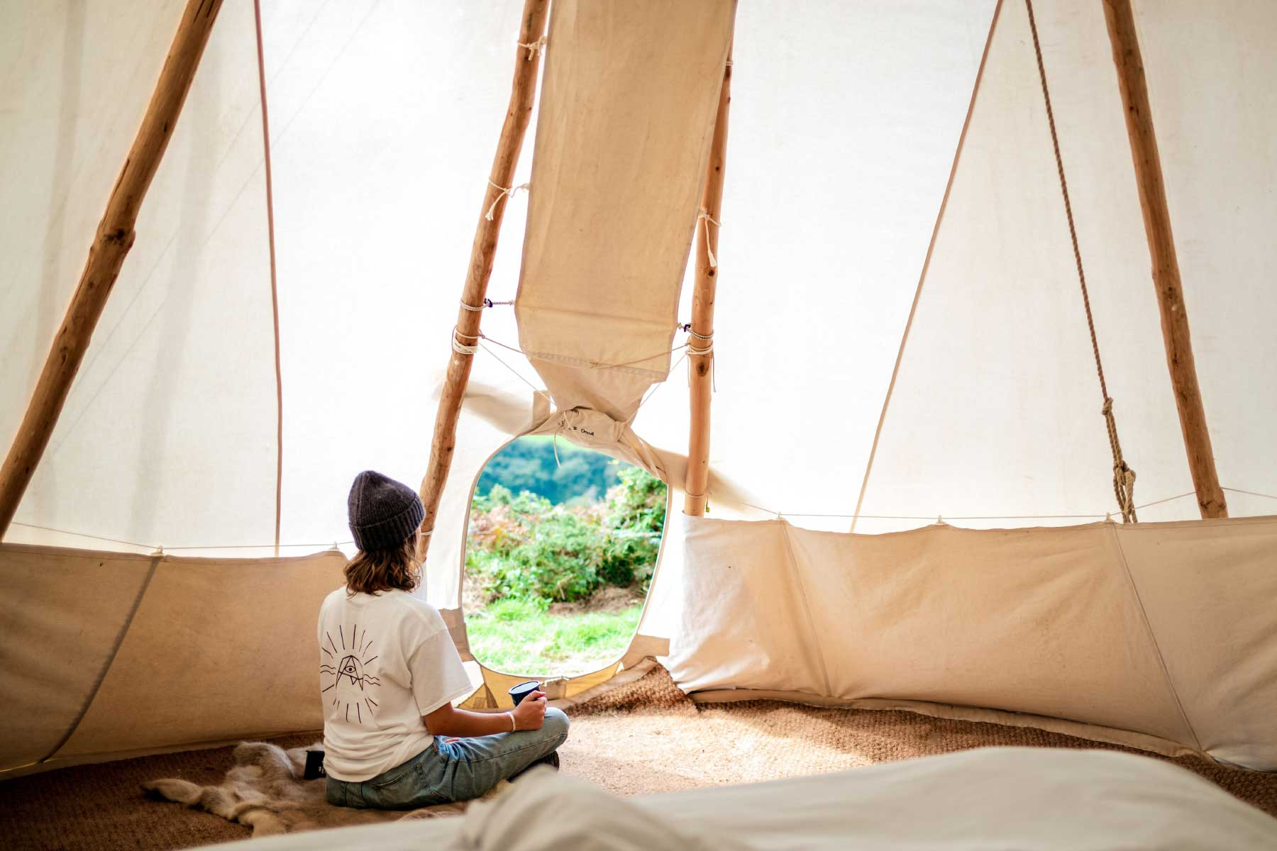 Looking out from the Kudhva Shanti Tipi